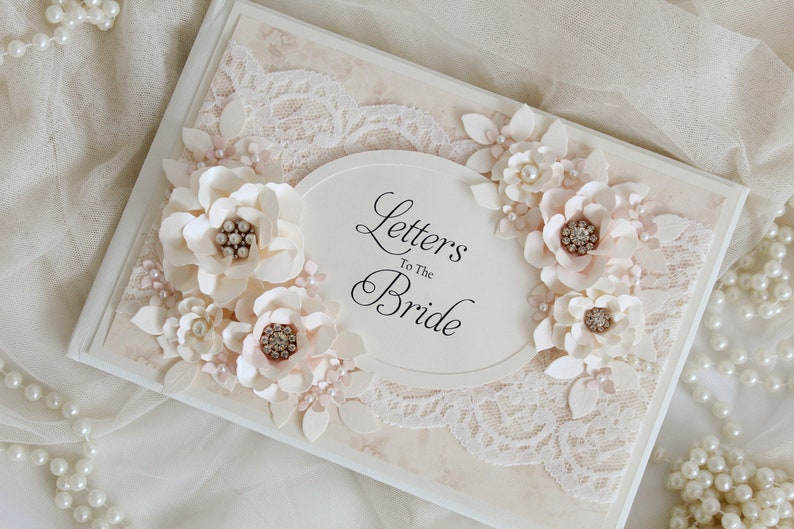 e33678056041 Letters to the bride bridal shower guest book bride gift