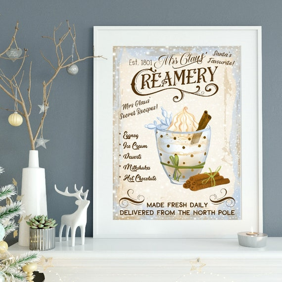 Mrs Claus/' Hot Chocolate Banner Christmas Hot Cocoa Bar Decor Bunting Festive