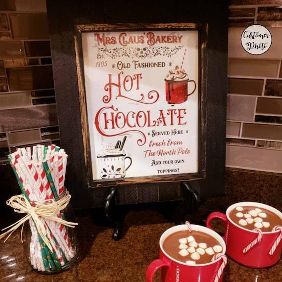 Christmas Hot Chocolate Bar Wall Art A4 Sign