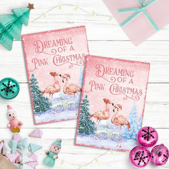 Christmas Toppers For Card Making.Flamingo Christmas Card Toppers Xmas Cardmaking Greeting Cards Pink Tags Atc Cards Christmas Tags Flamingo Christmas Aceo
