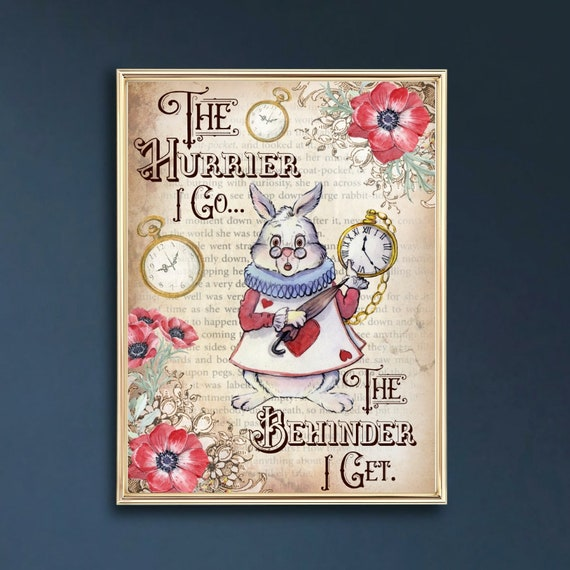 """Set of 6 Alice In Wonderland /""""Thankyou/"""" Tea Party//gift tags"""