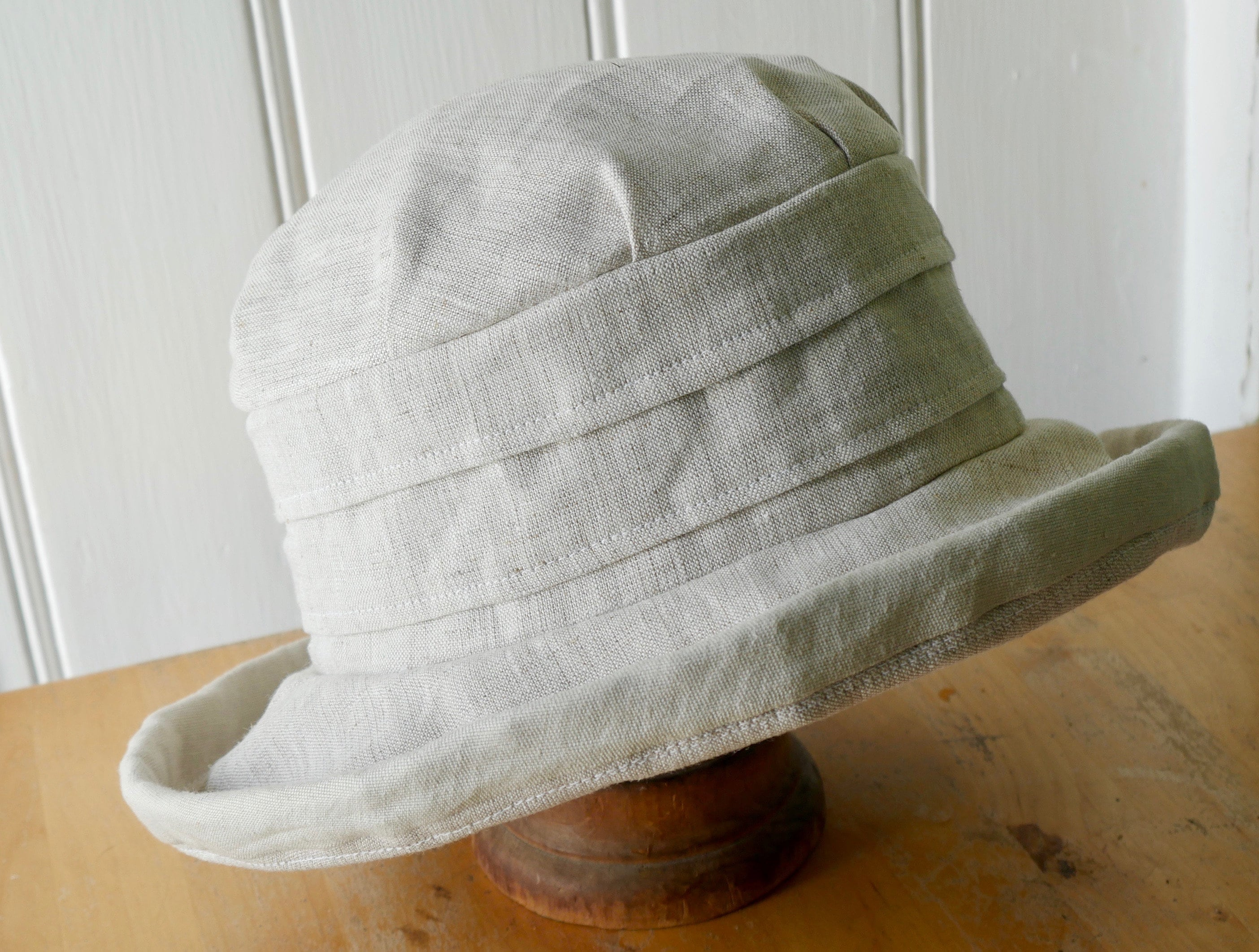 Linen big brimmed hat linen sun hat summer hat vacation  d1d7c3ba813