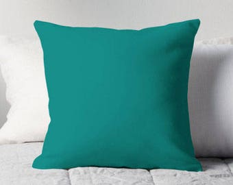 Solid Teal Pillow, Teal Throw Pillow, Teal Decorative Pillow, Teal Pillow Case, Teal Cushion, Teal Toss Pillow, Teal Bedroom, Teal Decor