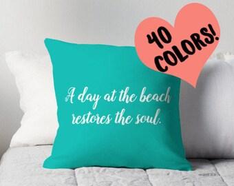 Beach Quotes, Beach Pillow Case, Beach Decor, Beach Pillow, Beach Cushion, Beach Pillow Cover, Beach House Decor, Beach Home Decor, Beach