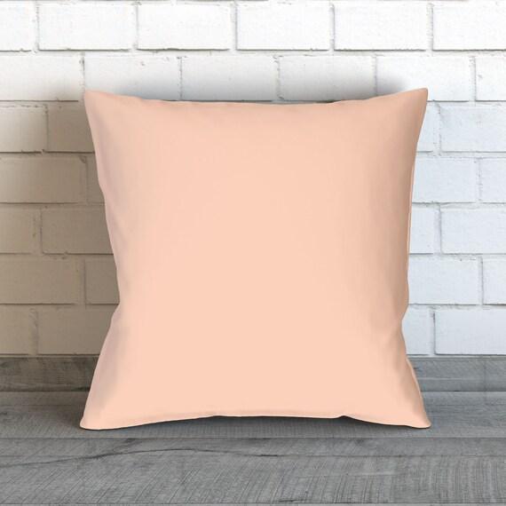 Solid Pale Peach Pillow Peach Throw Pillow Peach Decorative Etsy Extraordinary Peach Decorative Throw Pillows