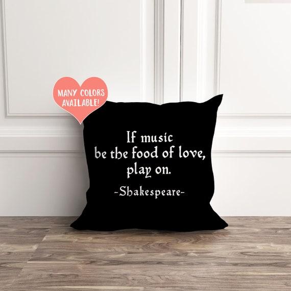 Shakespeare Music Pillow Shakespeare Gifts Shakespeare Etsy