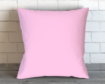 Solid Light Pink Pillow, Light Pink Pillow Case, Light Pink Bedding, Pink Cushion, Pink Decor, Pink Toss Pillow, Pink Bedding, Pink Room