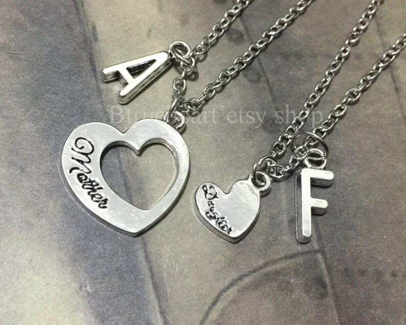 fe1f534f38 Silber Mutter Tochter Kette 2 Herz Halskette Geschenk für   Etsy