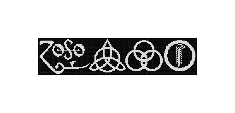 Cross Stitch Pattern Led Zeppelin Zoso Music Cross Stitch Etsy