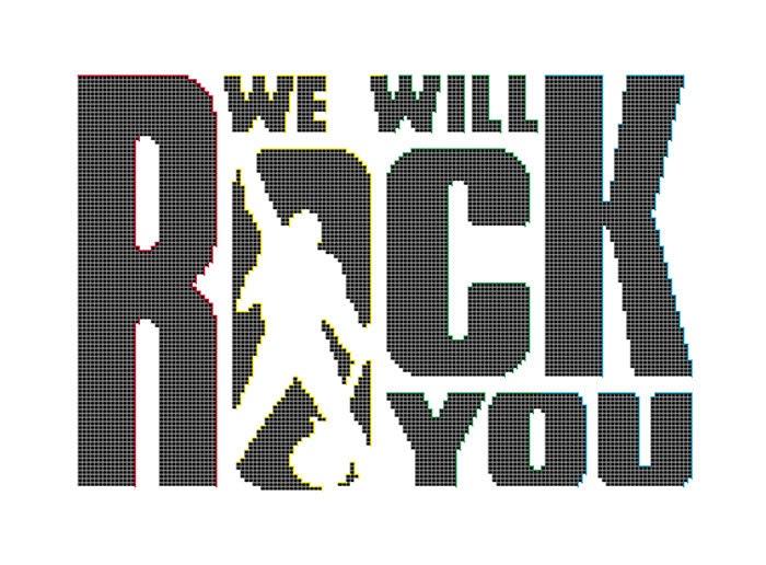 Will Rock You cruz puntada patrón Reina banda insignia música   Etsy