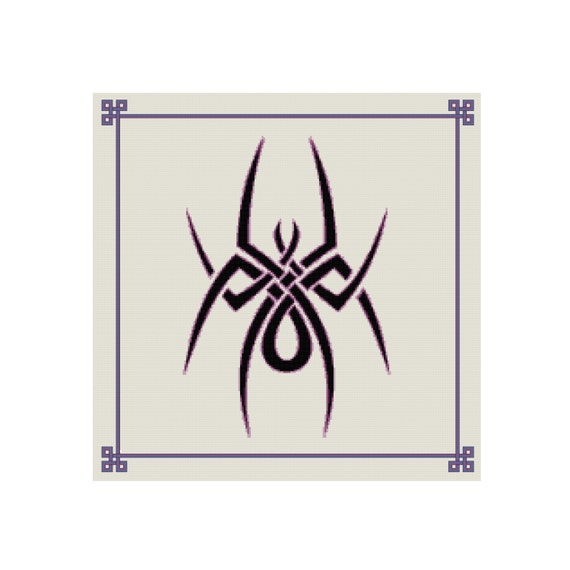 Puntada de Cruz celta patrón de araña Tribal contada | Etsy