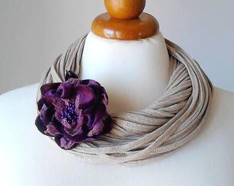 Flower necklace statement necklace bib necklace big bold chunky necklace chunky necklace statement unique necklace for women floral necklace