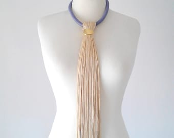 Boho tassel necklace long tassel necklace white boho jewelry tassel necklace boho chic fringe necklace tassel jewelry unique necklace women