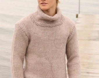 Mens sweater, Knit sweater, Knitted sweater for mens, Mens pullover Knit mens pullover, Men's Wool Sweater, Men's Hand Knitted Sweater