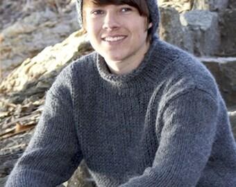 Wool sweater men oversized sweater knit chunky sweater hand knit sweater jumper mens sweater knitted sweater man pullover winter sweater