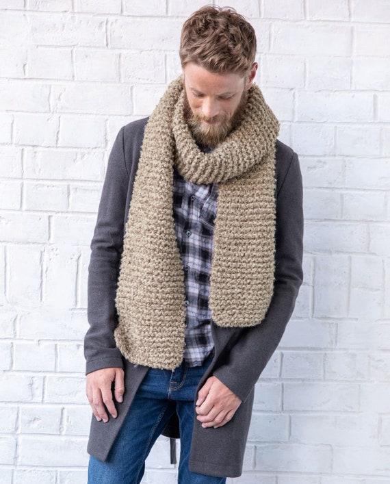 Scarf mens scarf wool scarf alpaca scarf for men scarf knit | Etsy