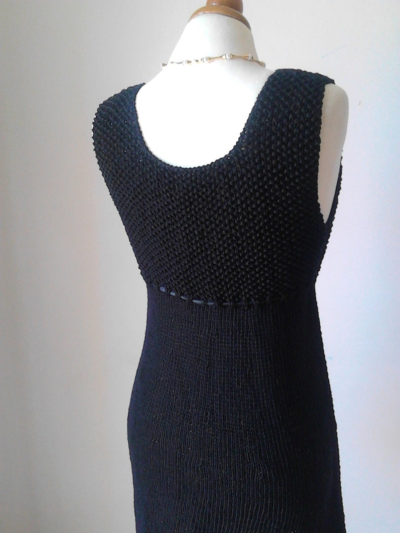 8abd931926af1b Schwarze Strick Kleid Leinen schwarz Kleid Audrey Hepburn 50er | Etsy