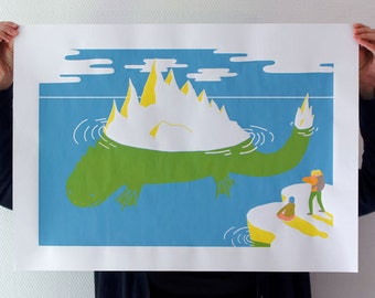 Around the world in 80 monsters _ Arctic expedition thorny _ displays screen-printed