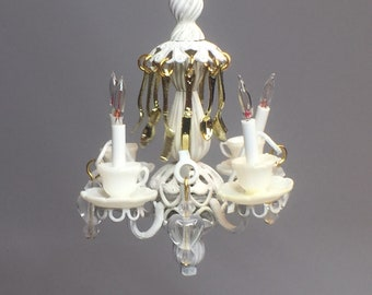Dollhouse chandelier etsy electric chandelier miniature 112 with tiny silverware details d aloadofball Choice Image