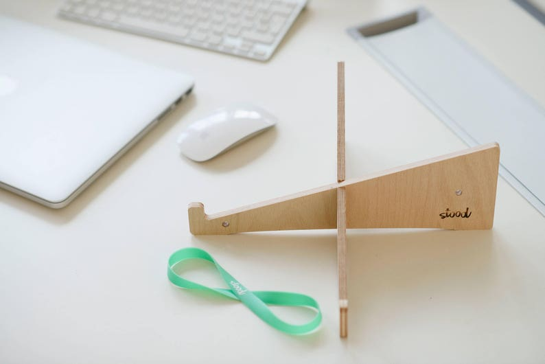 Office Pack 6x ECO Laptop Stand made of Wood