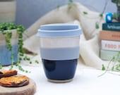 Hand-thrown Ceramic Travel Mug in Midnight Glaze