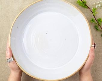 Hand-thrown Ceramic Large Platter