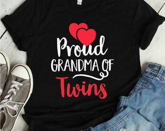 c3f9e106b Proud Grandma Of Twins Shirt   grandma, grandma of twins, twin grandma shirt,  twin grandma, grandma gift, twins, new twin grandma