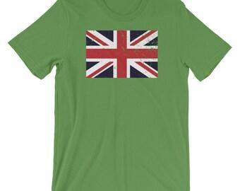 04eeca5d Union Jack Flag United Kingdom Cool Unisex Shirt   Retro Vintage Flag Great  British Pride T-Shirt   Best Souvenir Short-Sleeve Tee