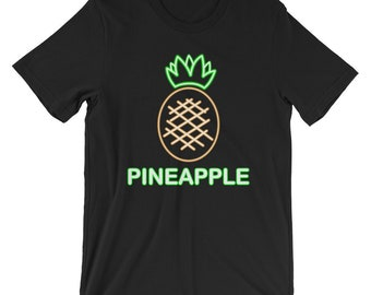 00a48387b2d1 Neon Pineapple Glow Party Cool Unisex Shirt