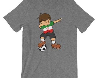 Iran Soccer Ball Dabbing Kid t-shirt  8aa9cdcab