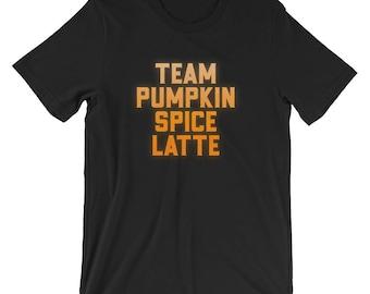 5fb3d57d9 Team Pumpkin Spice Latte | Thanksgiving Funny Sport Game T-Shirt |  Thanksgiving Party Team Outfit Shirt | Pumpkin Spice Holiday Short-Sleeve