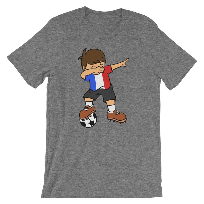 cdfa5ea239d France Soccer Ball Dabbing Kid Unisex Shirt French Football