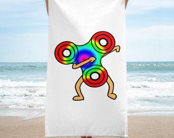 Dabbing Fidget Spinner Funny Towel   Dab Dance Skill Toy Humor Wet Towel   Summer Holiday Cute Fidget Beach Towel