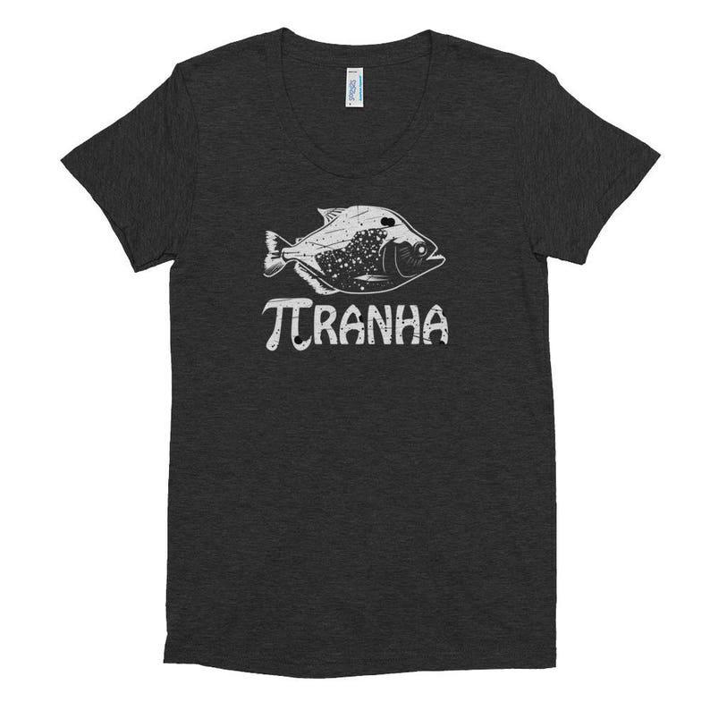 4df10801 Pi Ranha T-Shirt Funny Pi Symbol Piranha Fish Design Cool | Etsy