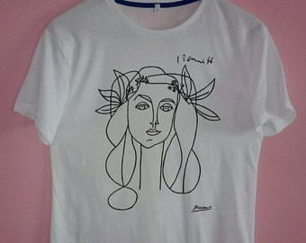 Picasso Woman (Francoise Gilot) Sketch T Shirt FREE SHIPPING