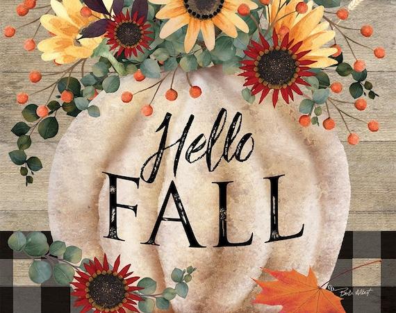 Fall Flag, Autumn House Flag, Pumpkin Garden Flag, Sunflower  Flag, Flag, Sassy Doors