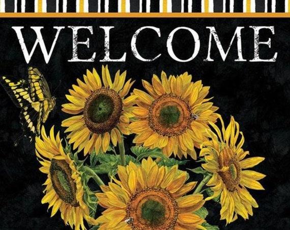 Sunflower Milk Can Flag, Sunflower Flag, Sunflower House Flag, HouseFlag, Sassy Doors
