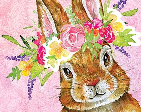 Easter Bunny Garden Flag, Easter Flag, Easter Bunny Flag