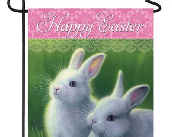 Easter Garden Flag- Easter Bunny Flag, Easter Garden Flag, Welcome Garden  Flag , Custom Decor Flag- Free Shipping