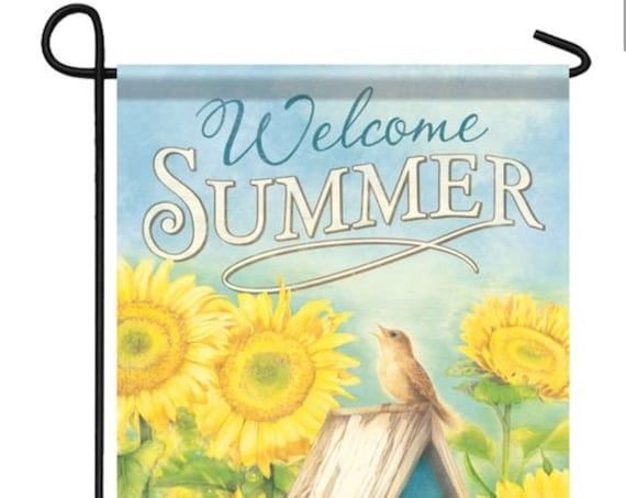 Summer Flag, Flag, Garden Flag, Flag With Sunflowers, Carson Flag, Welcome Home Flag, Garden Flag- Birdhouse Flag
