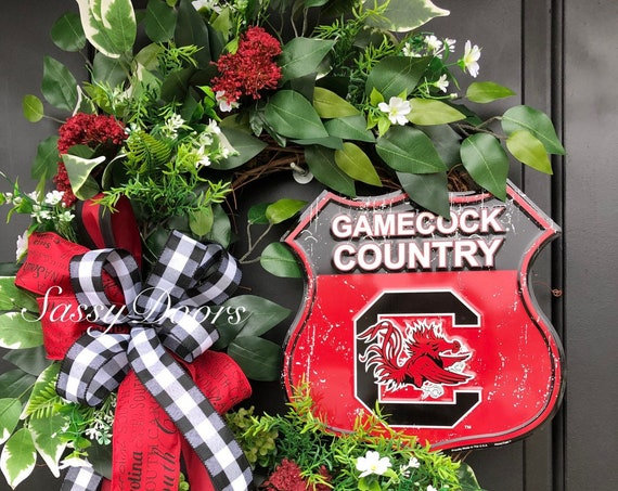 South Carolina Wreath- South Carolina College Wreath- Sports Wreath- University Wreath-SassyDoors Wreath, Gamecocks Wreath