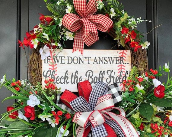 Baseball Wreath, Sports Wreath, Team Sports, Gift for Dad, Baseball Moms, Baseball SVG,  Baseball Gift Idea,