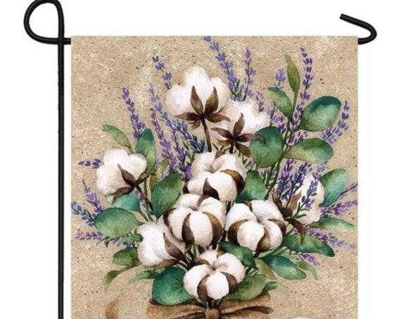 Cotton Welcome Garden Flag, Flag With Cotton. Custom Decor Garden Flag, Welcome Flag