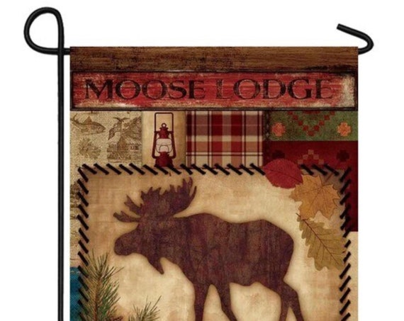 Moose Welcome Flag, Garden Flag, Flag With Moose, Mountain Welcome  Flag, Cabin Welcome Flag, Garden Flag. Camping Flag