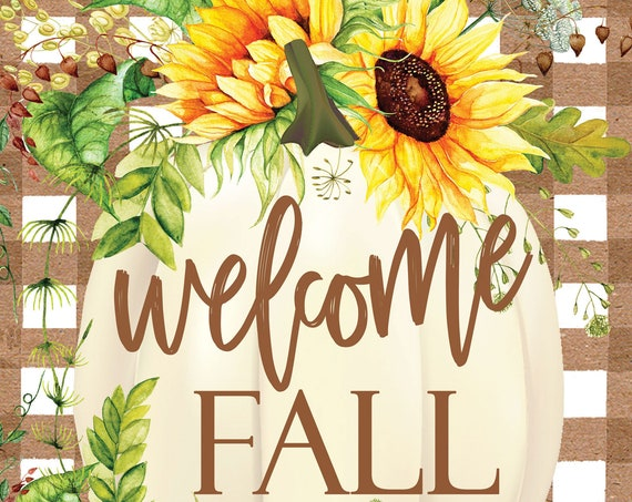 Fall Flag, Autumn Flag, Pumpkin Garden Flag, Sunflower  Flag,Custom Decor Flag,Sassy Doors