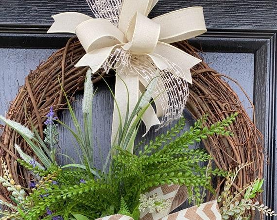 Everyday Door Wreath, Greenery Door Wreath, Everyday Wreath, Farmhouse Wreath, Transitional Wreath