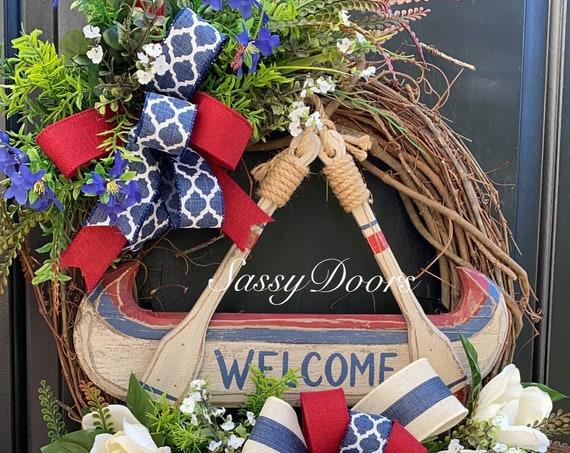 Lake Wreath, Lake Grapevine Wreath, River Wreaths, Mountain Wreath, Everyday Wreath, Sassy Doors Wreath,