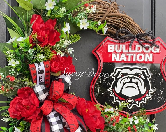 Georgia Bulldogs, University Wreath, Sports Wreath, Collegiate Wreath,