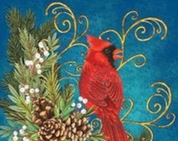 Cardinal Garden Flag- Winter Flag- Red Cardinal  Garden Flag- Custom Decor Flag, Sassy Doors Flag
