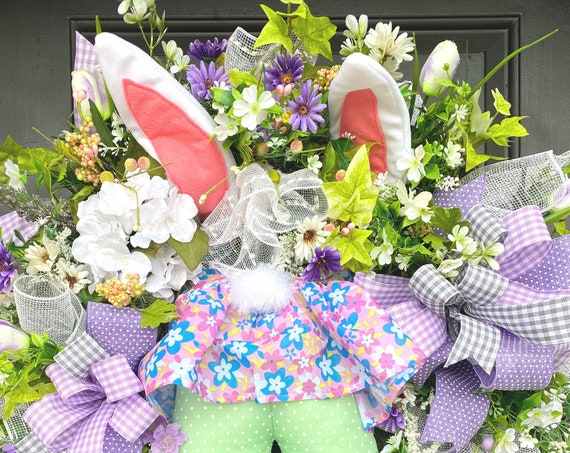 Easter Wreath, Easter Bunny Wreath, Easter Wreath For Front Door, Sassy Doors Wreath, Bunny Butt Wreath